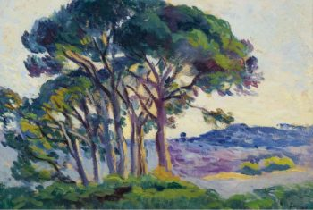 Pines near Cannebiers 1903   Maximilien Luce   oil painting