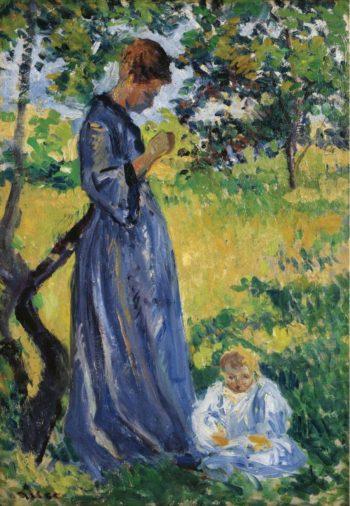Poissy Madame Dillon 1893   Maximilien Luce   oil painting