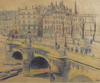 pont Neuf and the Quay of Conti   Maximilien Luce   oil painting