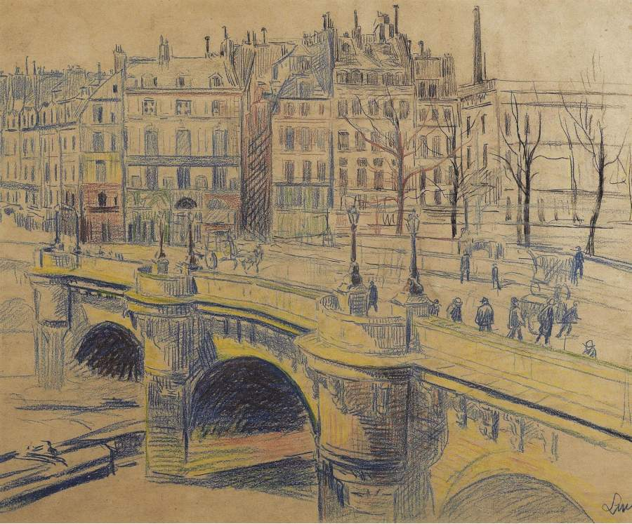 pont Neuf and the Quay of Conti | Maximilien Luce | oil painting