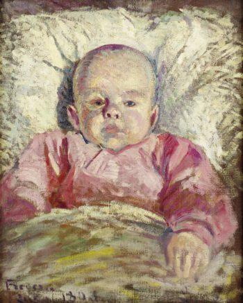 Portrait of Frederic Luce Bebe 1896   Maximilien Luce   oil painting