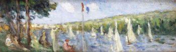 Regatta at Meulan   Maximilien Luce   oil painting