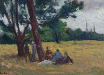 Resting   Maximilien Luce   oil painting
