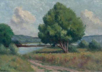 Roche Guyon the Trees   Maximilien Luce   oil painting