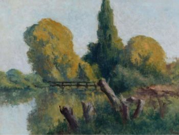 Rolleboise Small Arm of the Seine in Autumn 1920 22   Maximilien Luce   oil painting