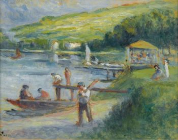 Rolleboise the Bank of the Seine   Maximilien Luce   oil painting