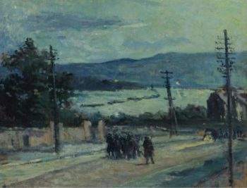 Rolleboise the Road 1917   Maximilien Luce   oil painting