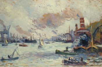 Rotterdam 1908   Maximilien Luce   oil painting