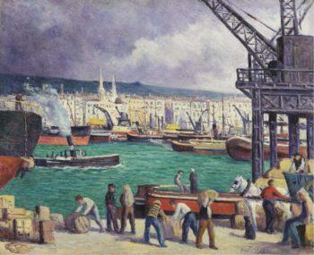 Rouen the Port 1913   Maximilien Luce   oil painting