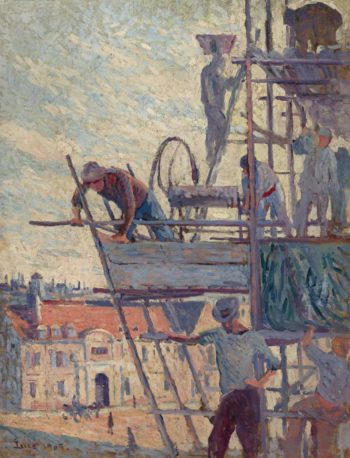 Scaffolds Raising (study) 1905 | Maximilien Luce | oil painting