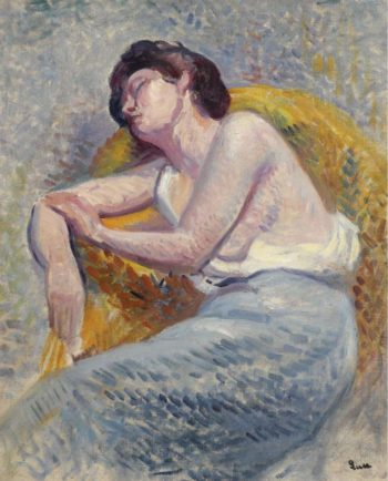 Sleeping Woman 1905 | Maximilien Luce | oil painting