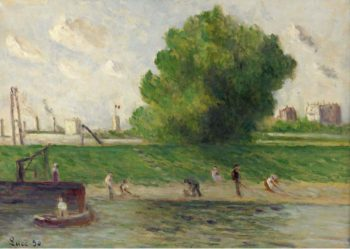 Surburb of Paris the Bank of the Seine 1930 | Maximilien Luce | oil painting
