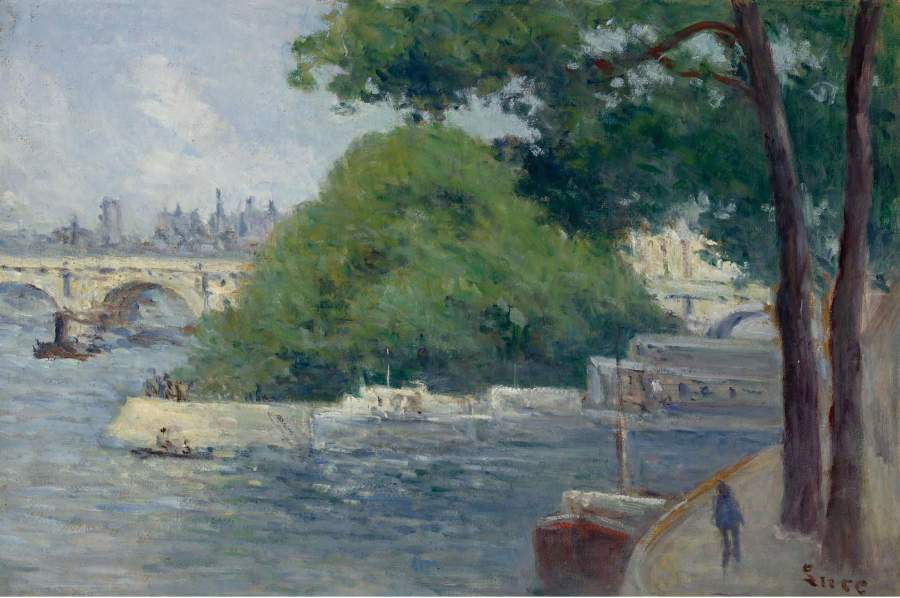 The Banks of the Seine at Paris | Maximilien Luce | oil painting