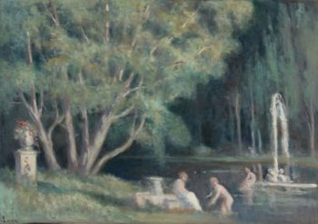 The Bathers in the Water | Maximilien Luce | oil painting
