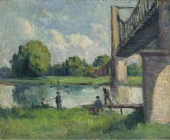 The Bidge in the Outskirts of Angers 1916 | Maximilien Luce | oil painting