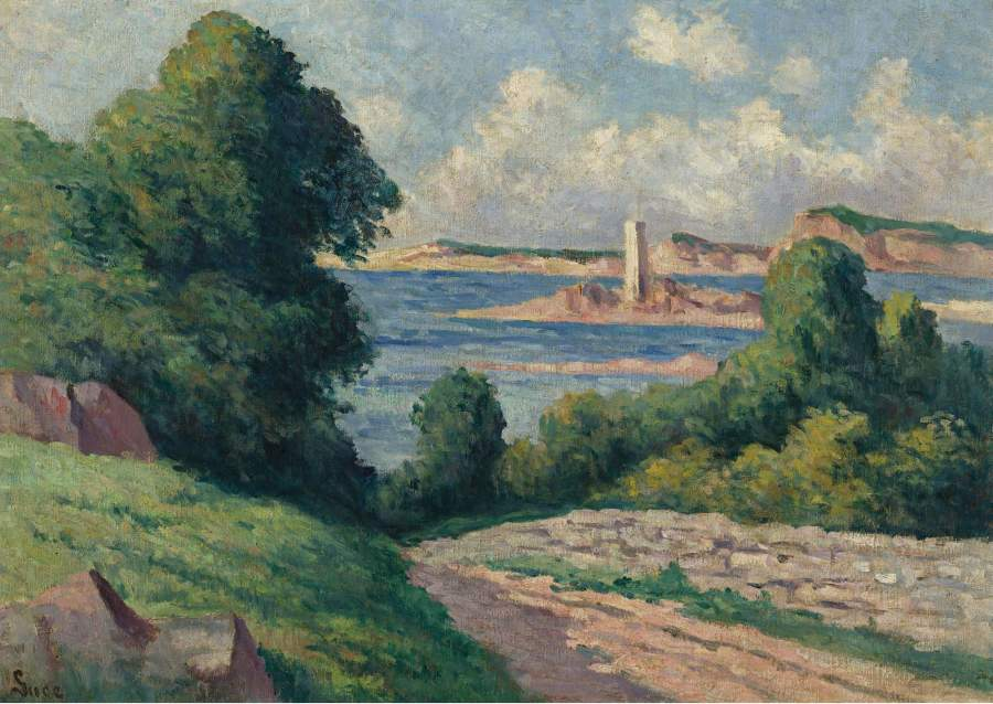 The Estuary of Trieux 01 | Maximilien Luce | oil painting