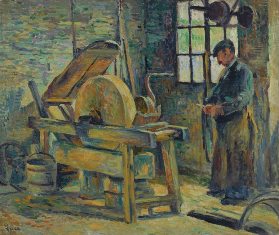 The Grinder 1907 | Maximilien Luce | oil painting