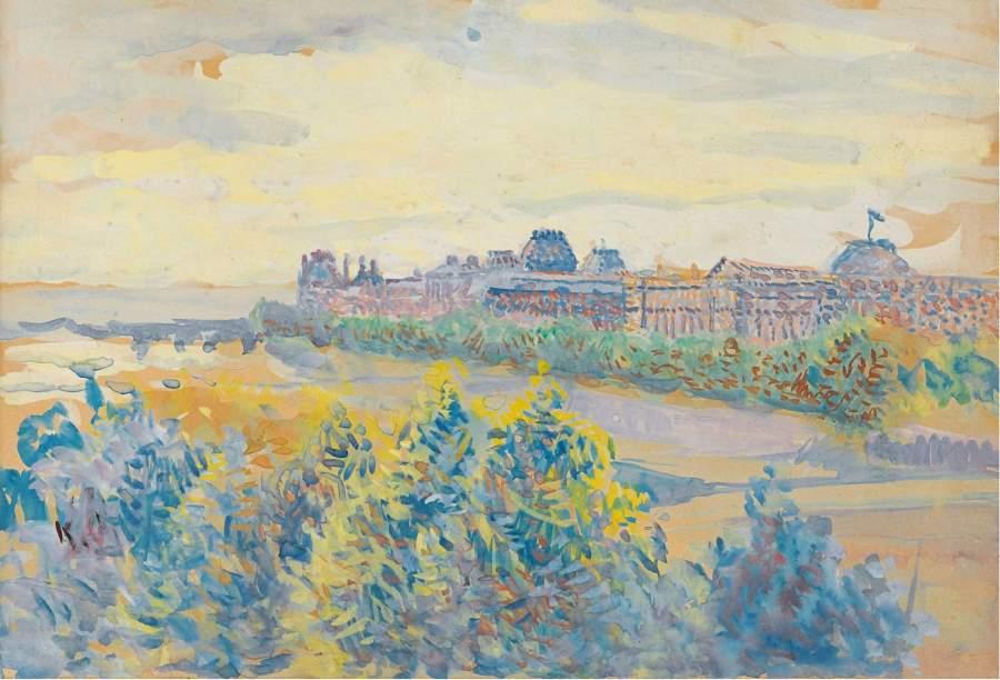 The Louvre | Maximilien Luce | oil painting