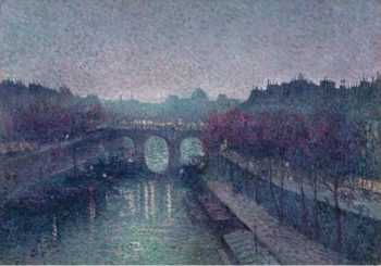 The Pont Neuf the Seine Small Arm 1900 | Maximilien Luce | oil painting
