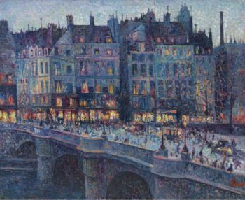The Quay Conti 1894 | Maximilien Luce | oil painting