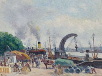 The Quay of Bercy 1925 | Maximilien Luce | oil painting