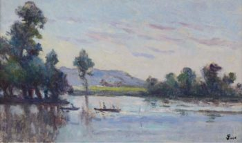 The Riverscape | Maximilien Luce | oil painting