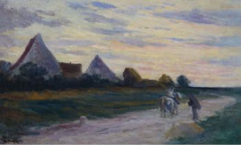 The Road Scene | Maximilien Luce | oil painting