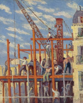 The Scaffolding 1910 | Maximilien Luce | oil painting
