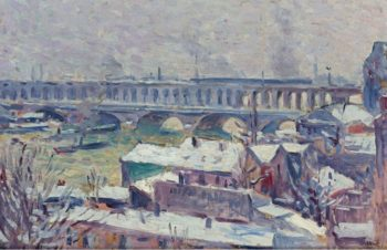 The Seine | Maximilien Luce | oil painting