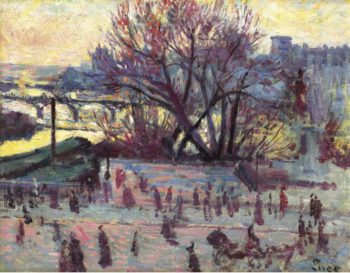 The Seine View from the Studio of Pissarro 1935 37 | Maximilien Luce | oil painting