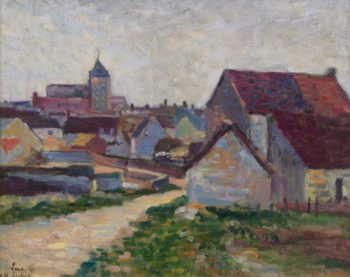The Village Conche Sur Condoires 1897 | Maximilien Luce | oil painting