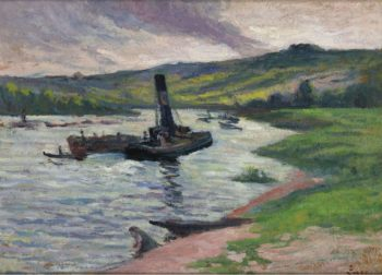 Tugboat on the Seine | Maximilien Luce | oil painting
