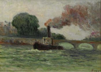 Tugboat on the Seine 1930 | Maximilien Luce | oil painting