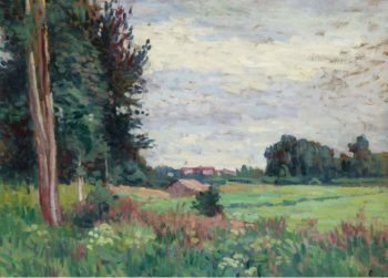 View of Mereville | Maximilien Luce | oil painting