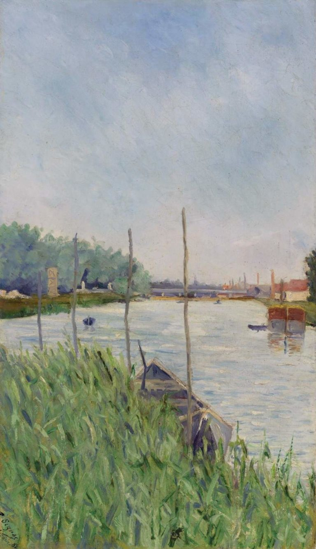 Asnieres (study) 1882 | Paul Signac | oil painting