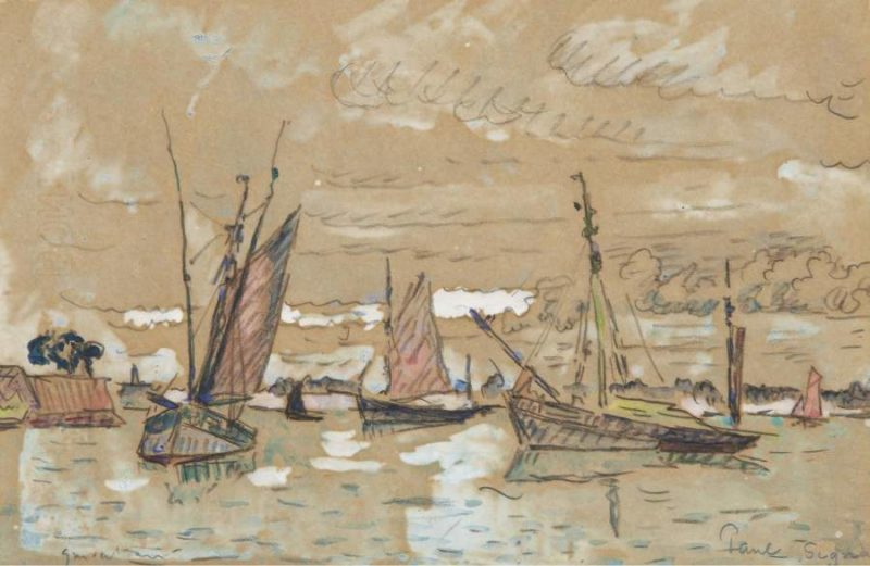 Boats of Honfleur 1922   Paul Signac   oil painting