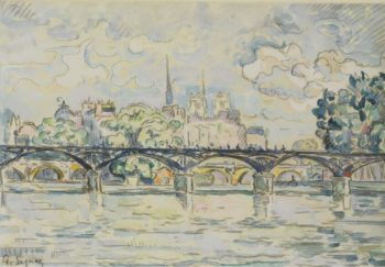 Paris the Bridge of Arts | Paul Signac | oil painting