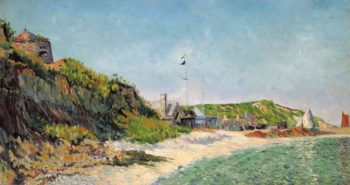 Port en Bessin the Beach 1883 | Paul Signac | oil painting