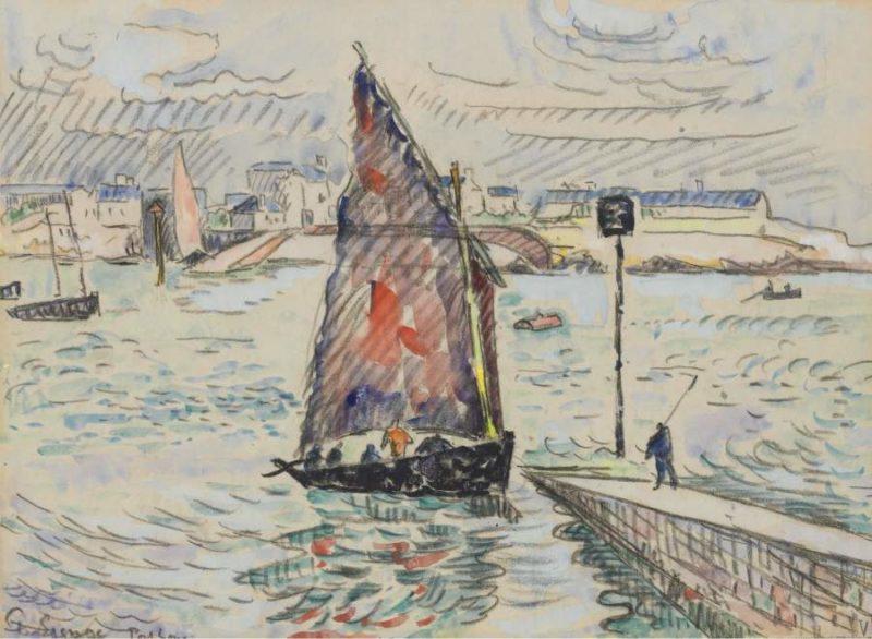 Port Luis 1922   Paul Signac   oil painting