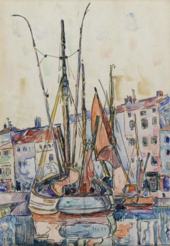 Port of La Roshelle 1920 | Paul Signac | oil painting