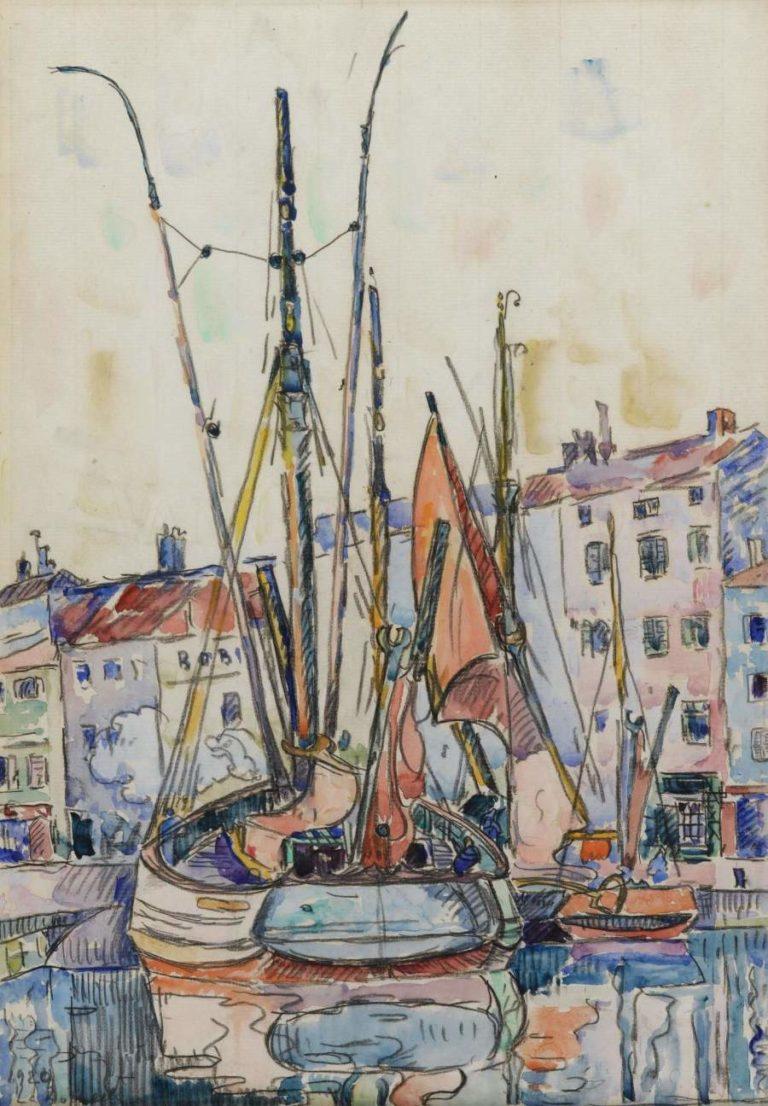 Port of La Roshelle 1920 | Paul Signac | oil painting