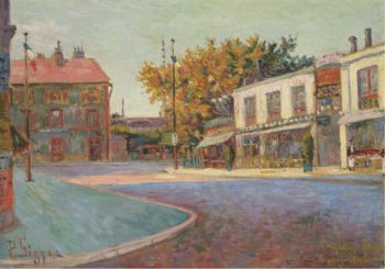 Rue de la Station Asnieres 1884 | Paul Signac | oil painting