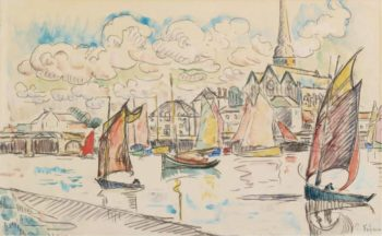 Sailers in the Port 1920s | Paul Signac | oil painting