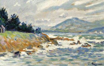 Saint Tropez the Gust of Eastern Wind 1895 | Paul Signac | oil painting