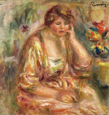 Andree in a Pink Dress 1917 | Pierre Auguste Renoir | oil painting