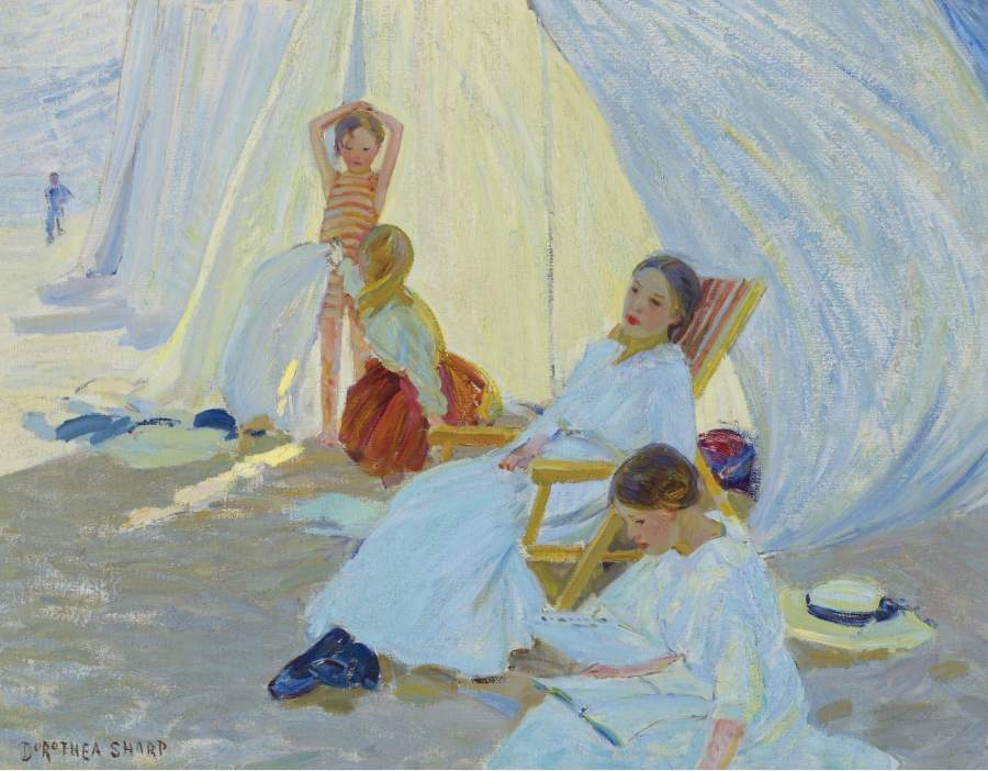 A Day at the Sea | Dorothea Sharp | oil painting
