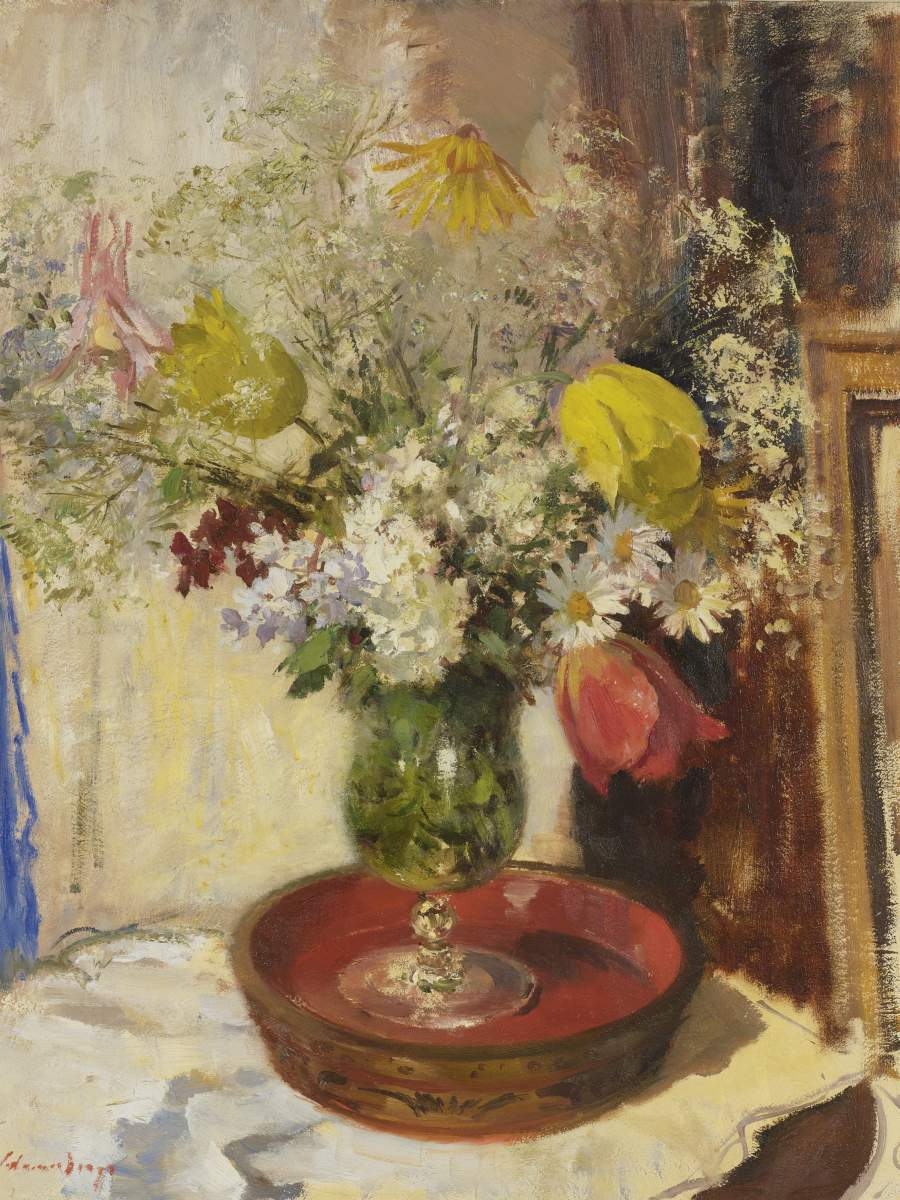 Flowers in a vase painting edward seago oil painting reproduction flowers in a vase edward seago oil painting reviewsmspy