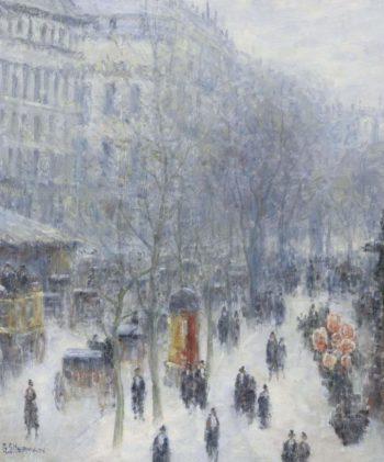 A Boulevard in Paris 01 | Gail Sherman Corbett | oil painting