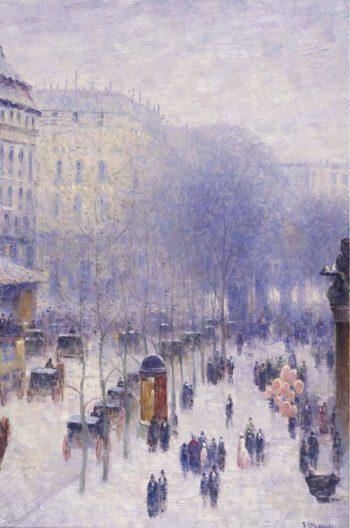 A Boulevard in Paris 02 | Gail Sherman Corbett | oil painting
