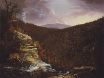 From The Top Of Kaaterskill Falls   Thomas Cole   oil painting